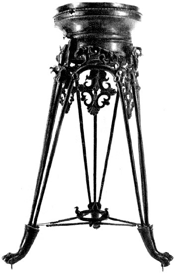 Tripod. Bronze. 6th century BCE. Saint Petersburg, The State Hermitage Museum