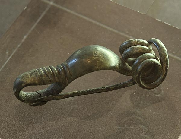 Fibula in the form of a scorpio. Bronze. Second half of the 2nd century BCE. Bergamo, Civic Archaeological Museum