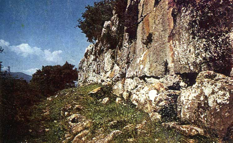 Fortress wall of the ancient town Roselle. 7th century BCE. Roselle