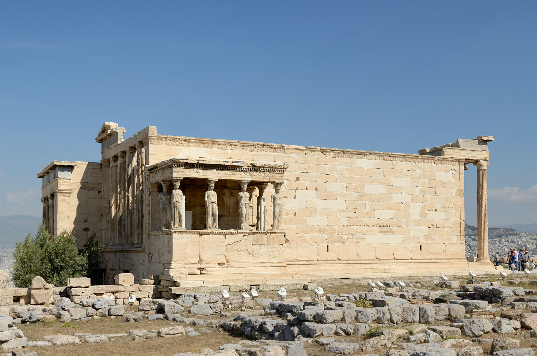 Athenian acropolis. Erechtheion. Porch of the Korai (Maidens). Athens