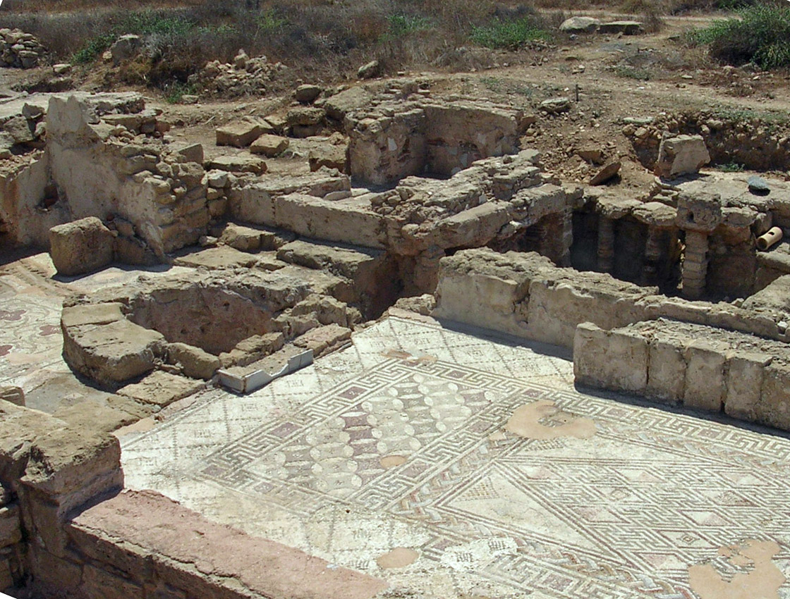 The Villa of Theseus. Bath complex. Apoditerium, basin for foot-washing, oven, caldarium, frigidarium. Second half of the 2nd century CE. Cyprus. Paphos, Archaeological Park