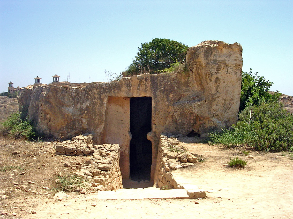 Tomb I. Entrance. Hellenistic period (3rd—1st centuries BCE). Cyprus. Paphos, Tombs of the Kings