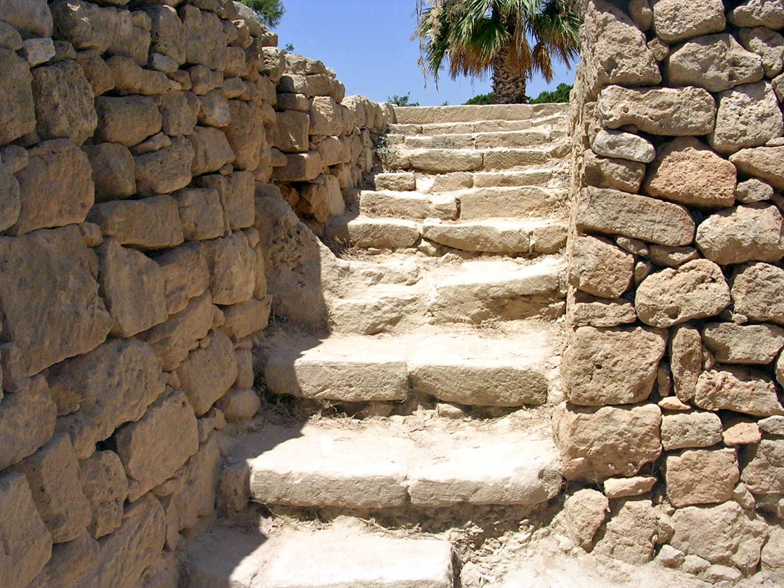 Tomb I. Staircase. Hellenistic period (3rd—1st centuries BCE). Cyprus. Paphos, Tombs of the Kings