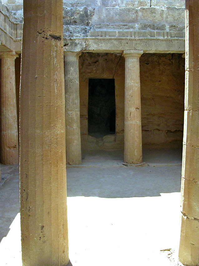 Tomb III. Peristyle. Hellenistic period (3rd—1st centuries BCE). Cyprus. Paphos, Tombs of the Kings