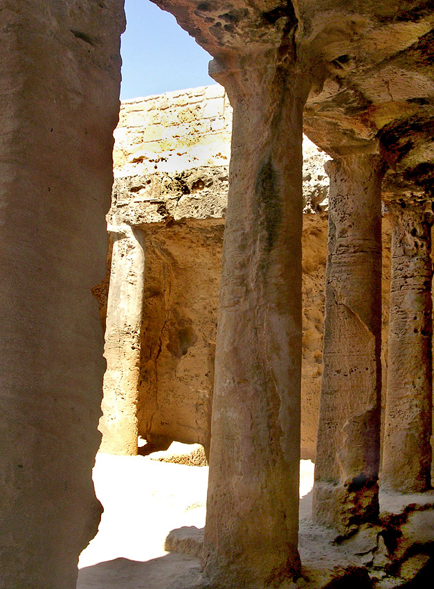 Tomb IV. Peristyle. Hellenistic period (3rd—1st centuries BCE). Cyprus. Paphos, Tombs of the Kings