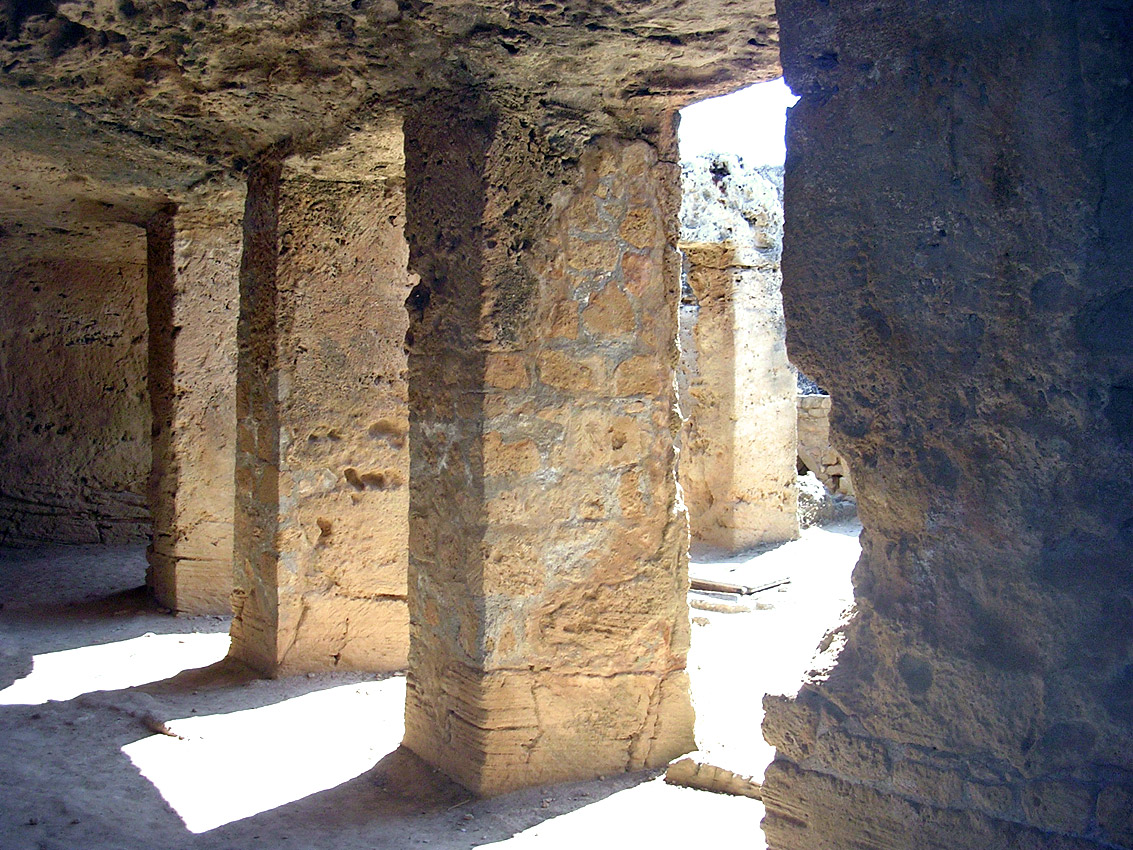 Tomb V. Portico. Hellenistic period (3rd—1st centuries BCE). Cyprus. Paphos, Tombs of the Kings