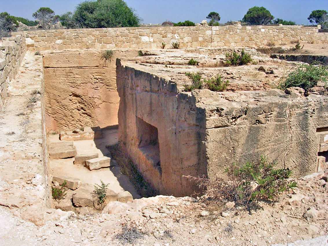 "Tomb VIII (""Ptolemaic""). Court and restangular block. Hellenistic period (3rd—1st centuries BCE) Cyprus. Paphos, Tombs of the Kings"