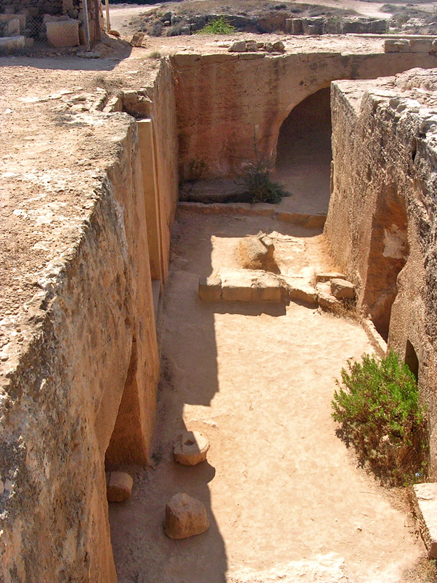 "Tomb VIII (""Ptolemaic""). Courtyard. Hellenistic period (3rd—1st centuries BCE) Cyprus. Paphos, Tombs of the Kings"
