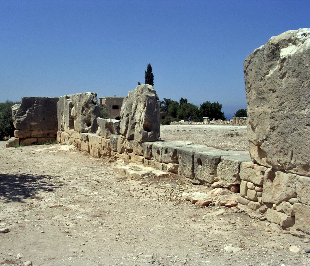 The wall of the Temenos of the Late Bronze Age Building. Ca. 1200 BCE. Cyprus. Kouklia (Paliapaphos), Temple of Aphrodite
