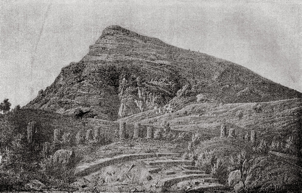 View of the Mount Ithome.  Messene
