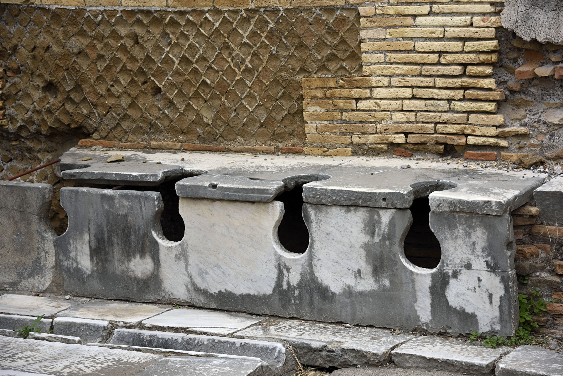 Public latrine (forica). 4th cent. CE. Ostia, Archaeological site
