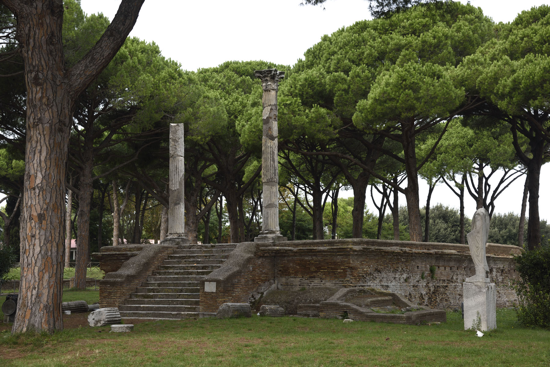 Temple of Ceres. Late 1st cent. CE. Ostia, Archaeological site (II, VII, 5)
