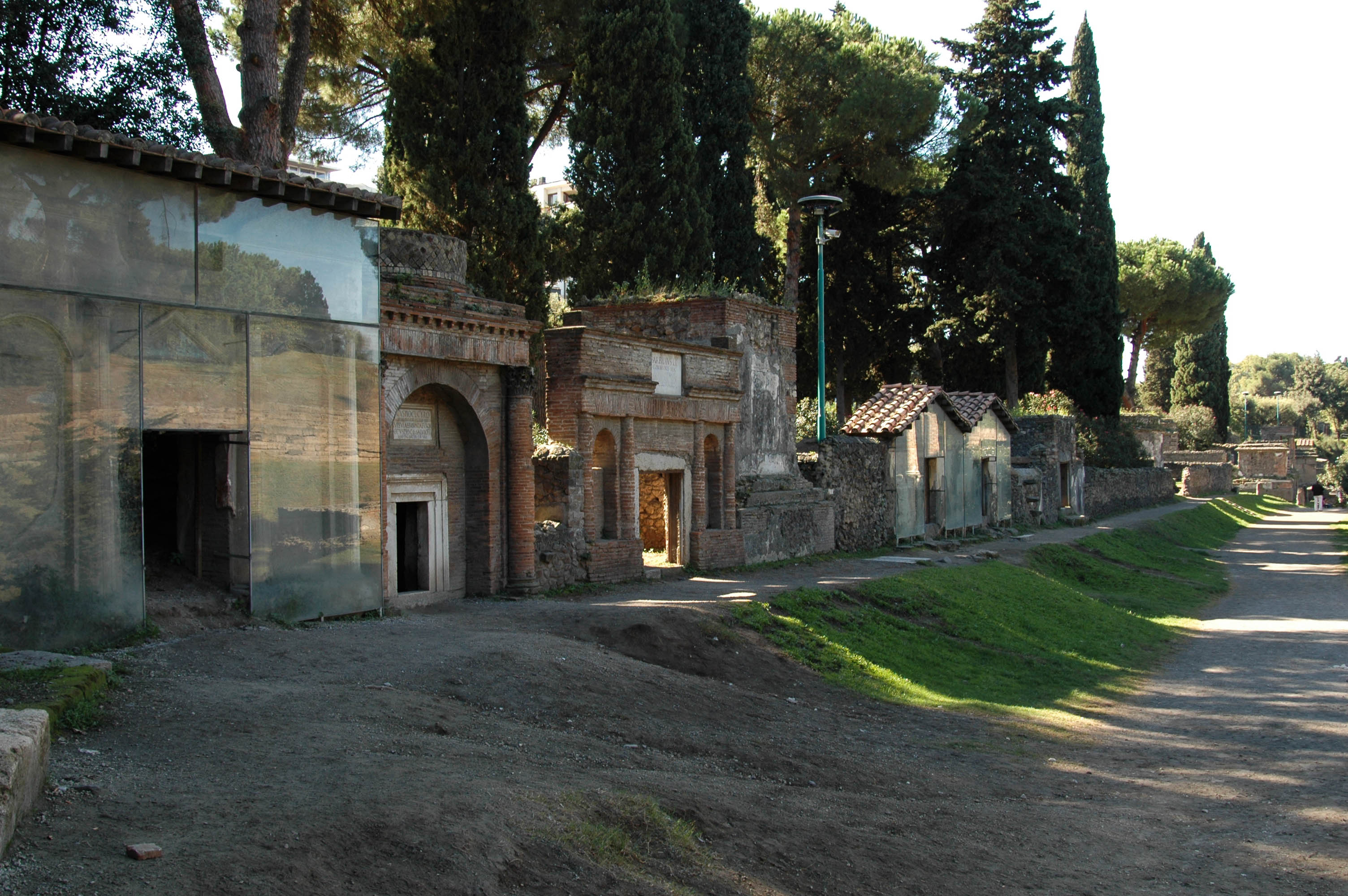 Eastern part of Necropolis outside the Nucerian gate (South side of Via delle Tombe). 54—79 CE. Pompeii