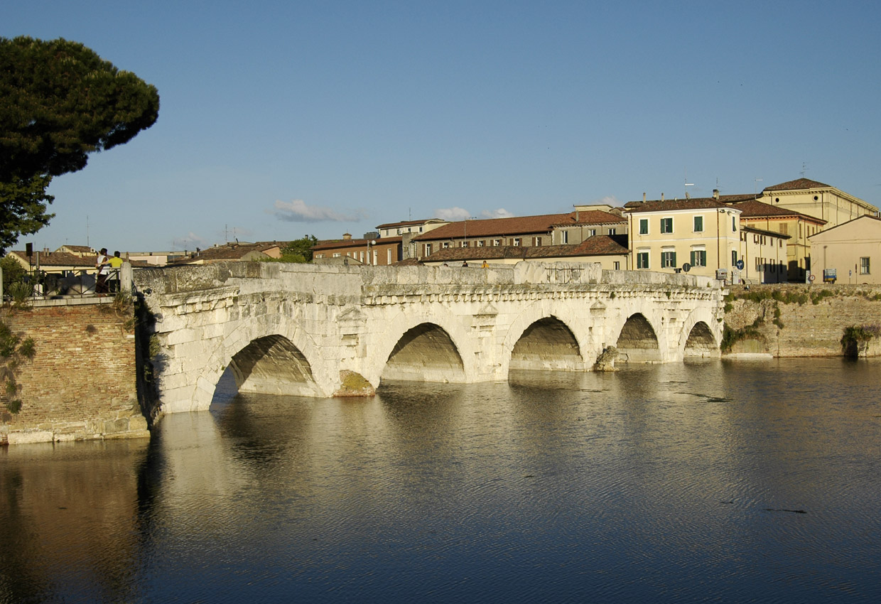 Tiberius Bridge across the River Marecchia (Ariminus). 14—21 CE. Rimini