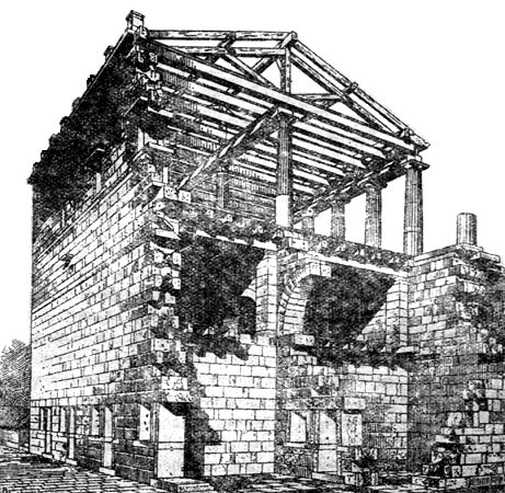 Reconstruction of portico.  Aegae