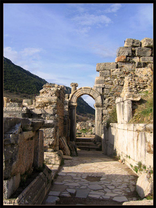 Entrance to the Odeon (Bouleuterion). 2nd century. Ephesus