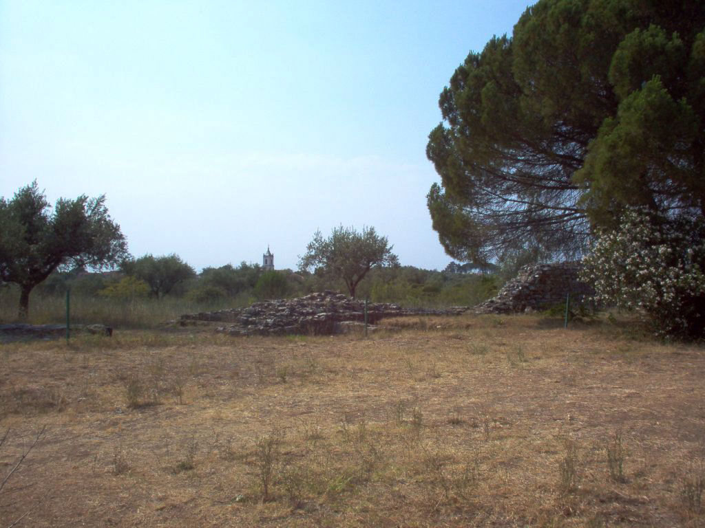 Ancient defense wall of the town. Conimbriga (Portugal). 1st century.