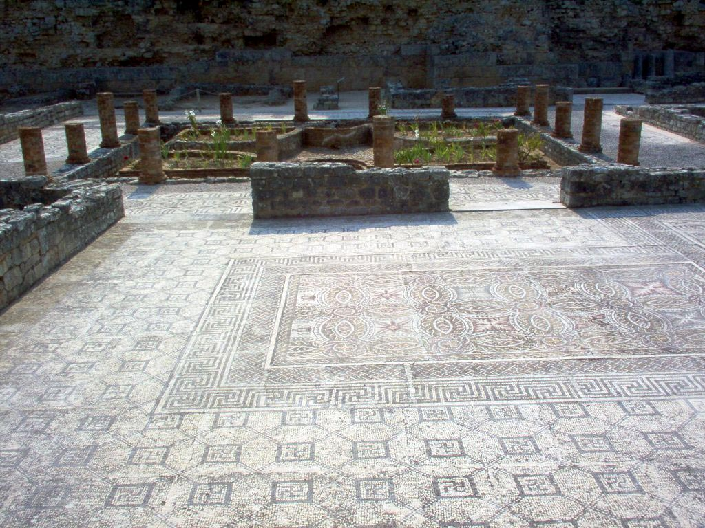 Swastika House. Triclinium, peristyle. Conimbriga (modern Conimbriga, Portugal) 1st—4th centuries.