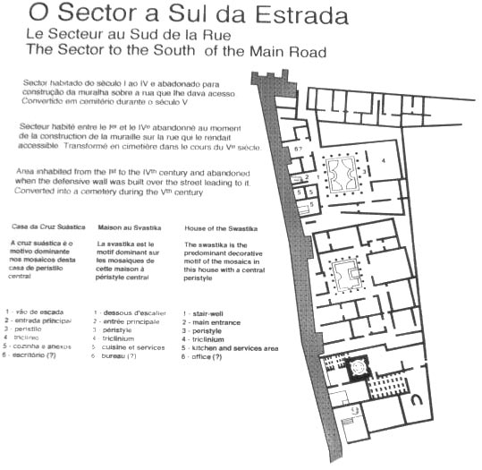 Swastika House. Plan of the house. Conimbriga (modern Conimbriga, Portugal) 1st—4th centuries.