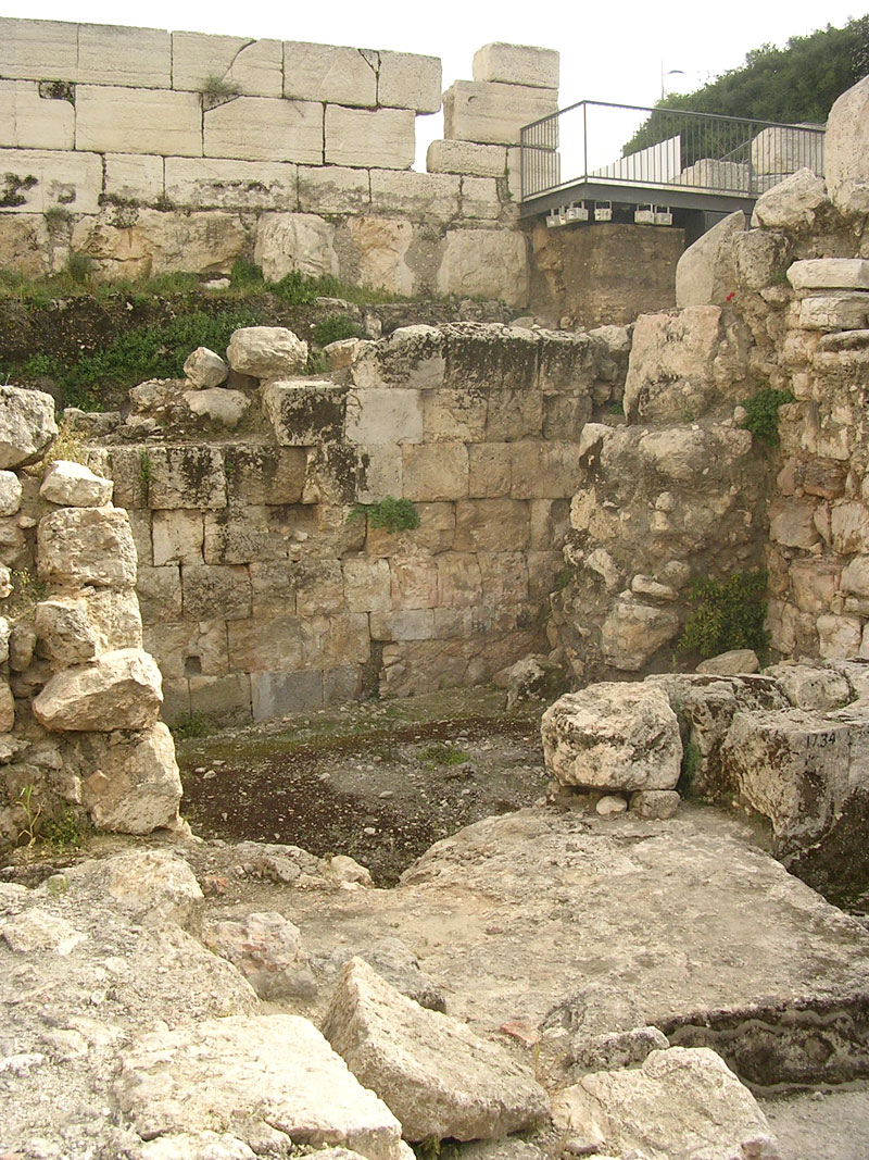 Residential buildings. The late Roman and Byzantine period. Jerusalem, Archaeological Park