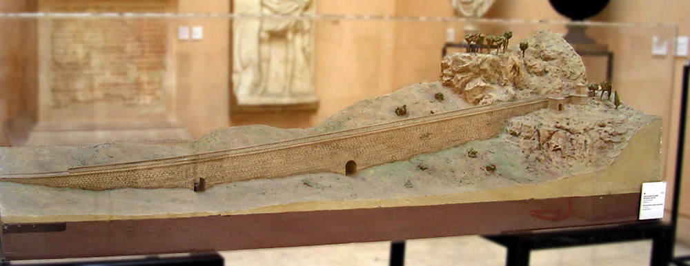 Scale model (1:100) of a viaduct on the Appian way. Late 2nd century BCE. Inv. No. MCR 1946. Rome, Museum of Roman Civilization