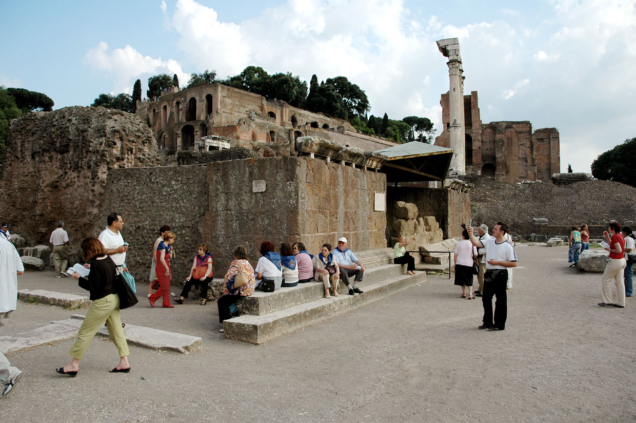The temple of Divus Julius.  Rome, Roman Forum