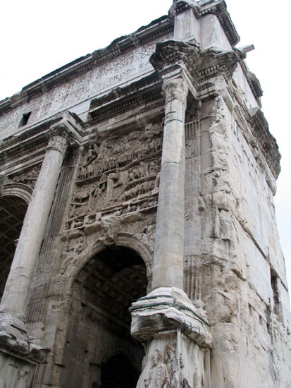 Arch of Septimius Severus.  Rome, Roman Forum, Arch of Septimius Severus