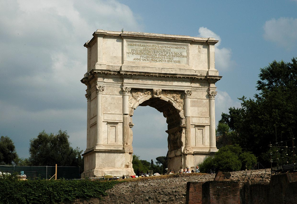 Arch of Titus. 81—96 CE. Rome, Roman Forum, Arch of Titus