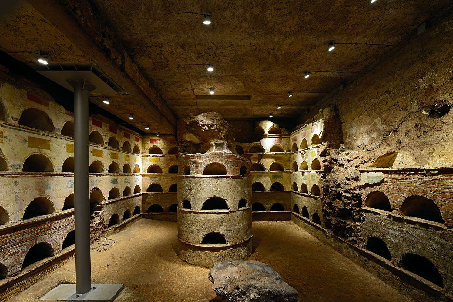 Columbarium near the Tomb of the Scipios on the via Appia. 1st century CE. Rome, Via Appia