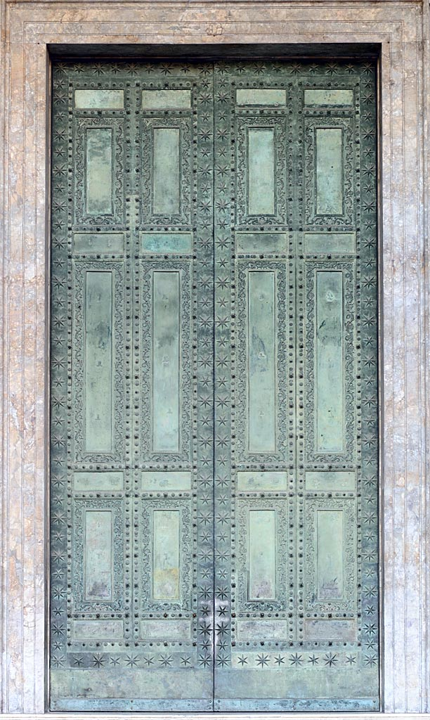 Bronze doors of Curia Julia. Outer side. 1st century BCE. Rome, Archbasilica of St. John Lateran