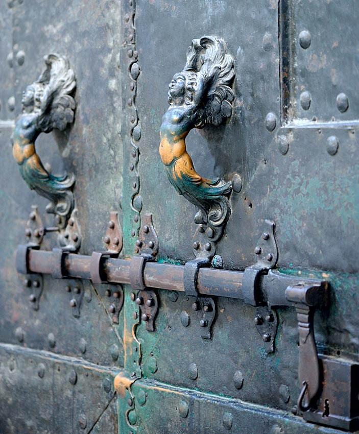 Bronze doors of Curia Julia. Handles of inner side. 1st century BCE. Rome, Archbasilica of St. John Lateran