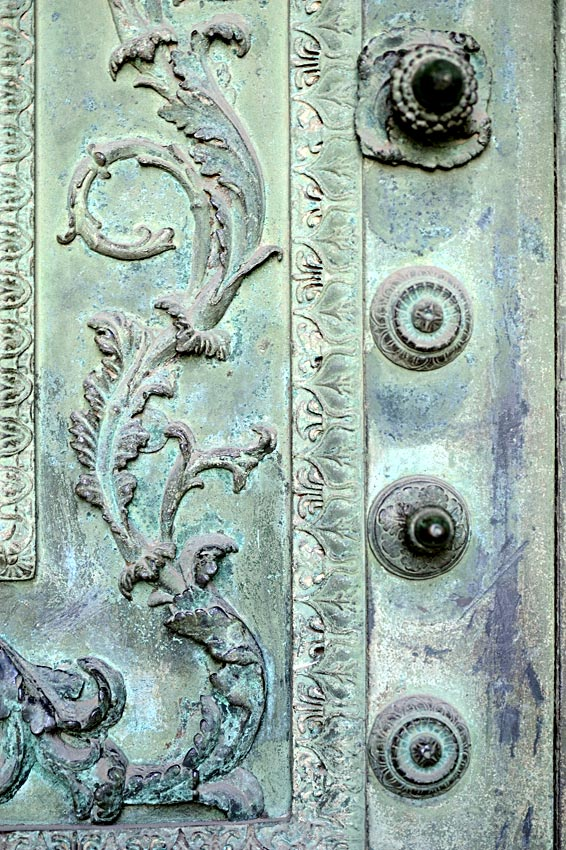 Bronze doors of Curia Julia. Outer side, decor elements. 1st century BCE. Rome, Archbasilica of St. John Lateran