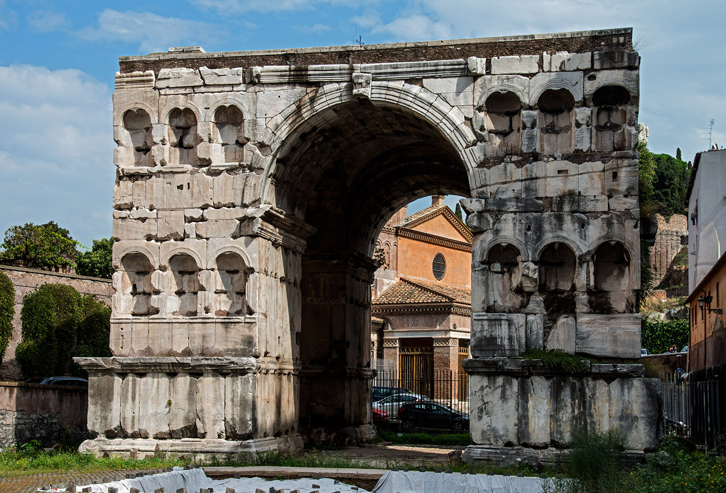 Arch of Janus in the Velabrum — Forum Boarium. Travertine. 4th cent. CE. Rome