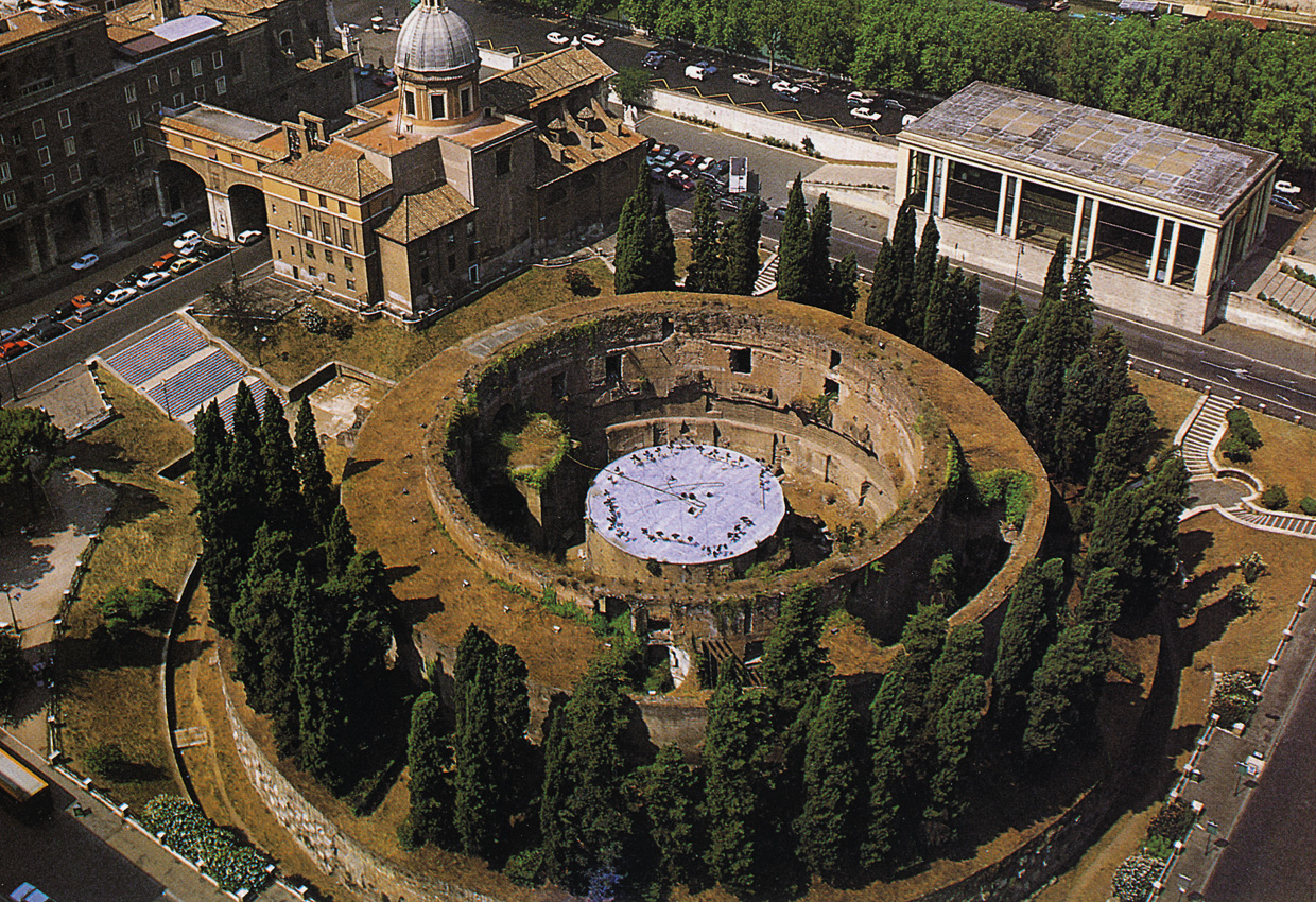 Mausoleum of Augustus. View from above. 29 BCE. Rome, Campus Martius
