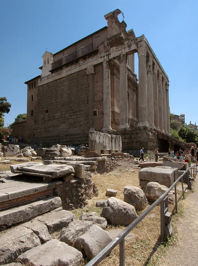 Temple of Antoninus and Faustina. 141 CE. Rome, Roman Forum