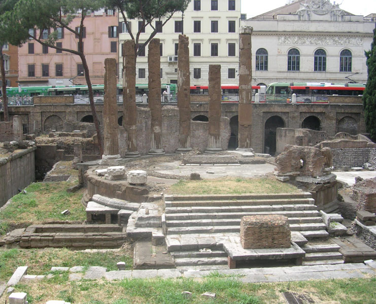 Temple of the Fortune of the Present Day. 100—87 BCE. Rome, Campus Martius, Area Sacra