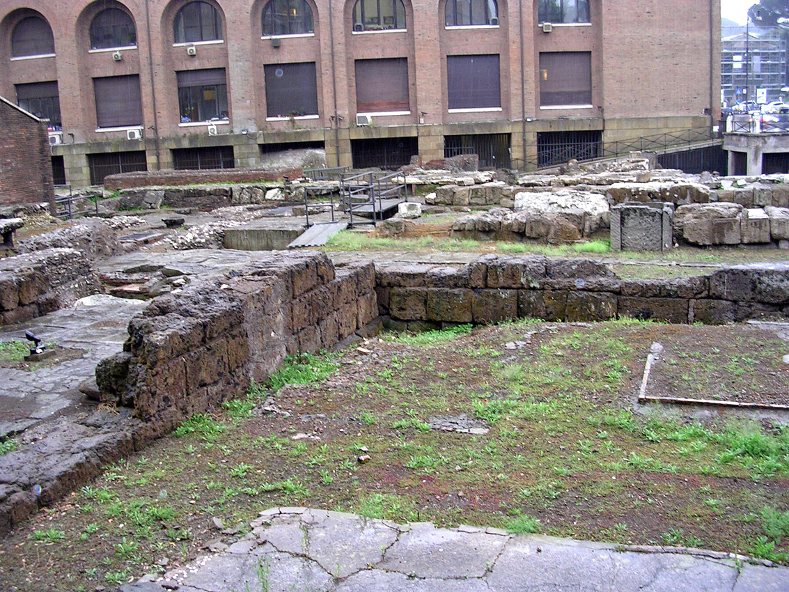 Temple of Fortune. Remains of the foundation. 578—534 BCE. Rome