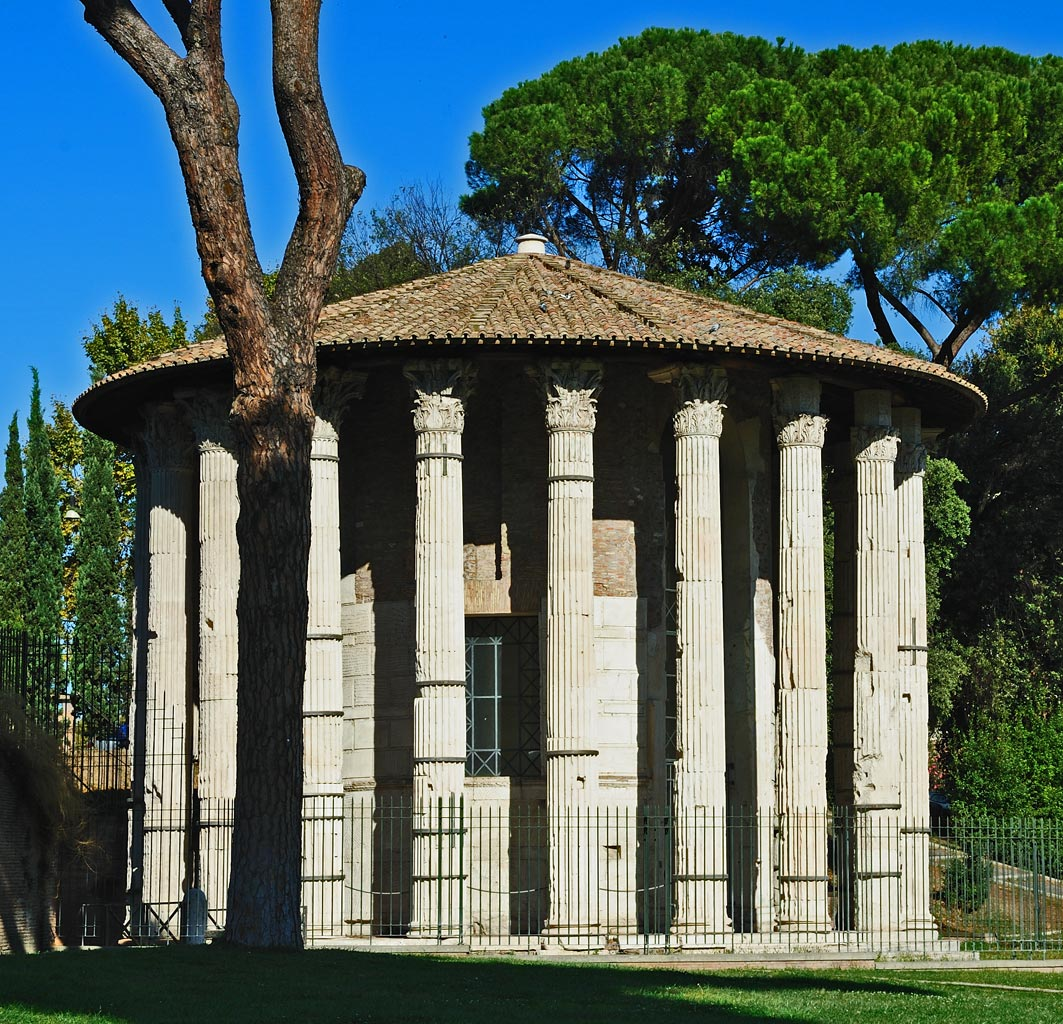 Temple of Hercules Victor (Temple of Hercules Olivarius).  Rome, Forum Boarium