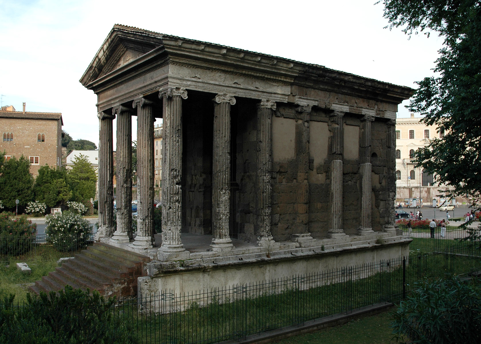 Temple of Portunus in Forum Boarium. (Former erroneous ...