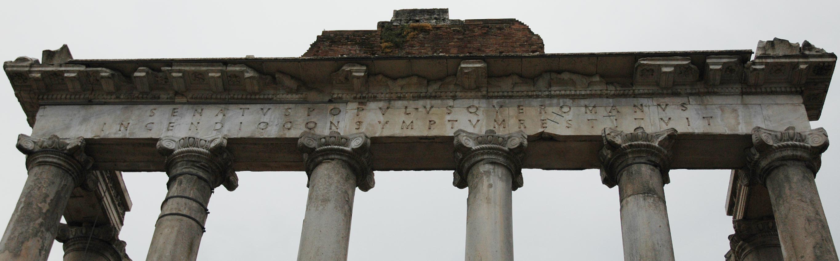 Temple of Saturn.  Rome, Roman Forum
