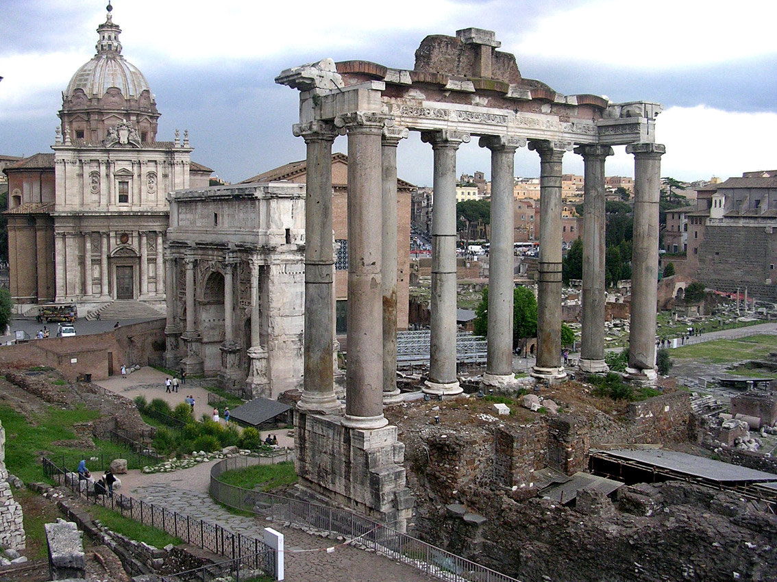 Temple of Saturn. 501—493 BCE. Rome, Roman Forum