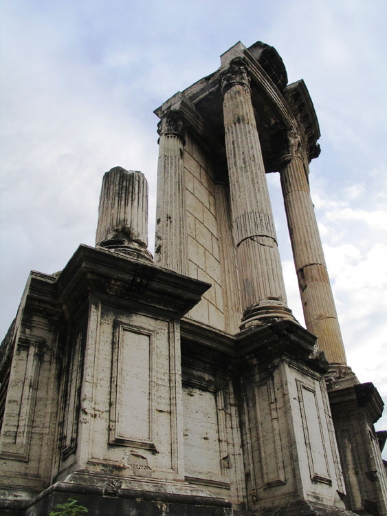 Remains of the temple of Vesta.  Rome, Roman Forum