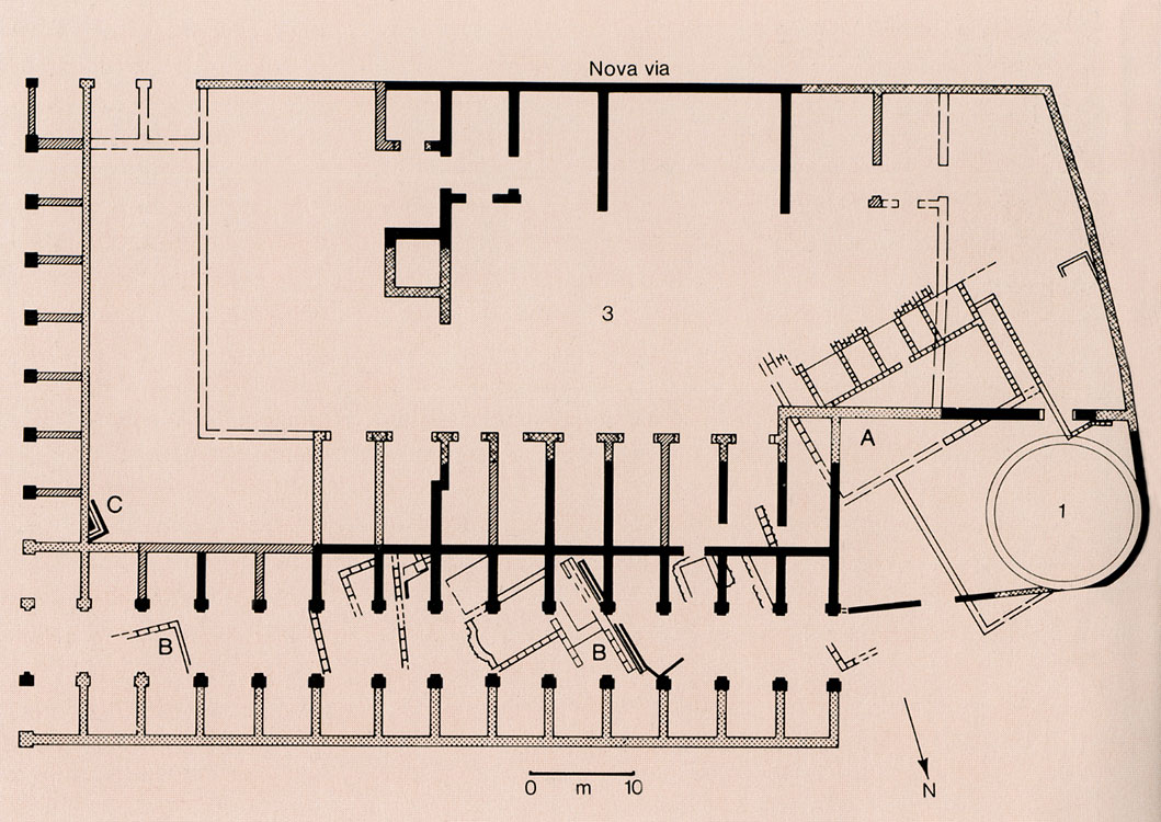 Plan Of The House Of Vestals. House Of Vestals: Plan Of The Part Built