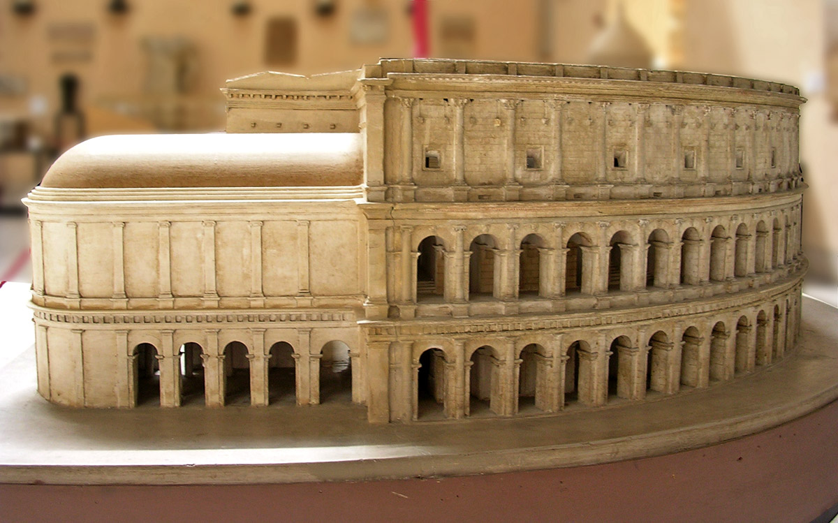 Scale model (1:100) of the Theatre of Marcellus. Rome. 13—11 BCE. Inv. No. MCR 1789 Rome, Museum of Roman Civilization