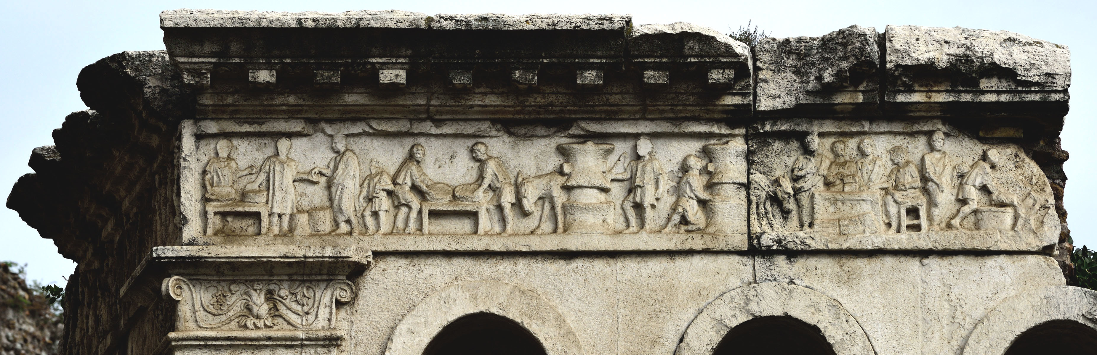 Tomb of Eurysaces. Frieze relief of the southern side. Late 1st century BCE. Rome, Tomb of Eurysaces