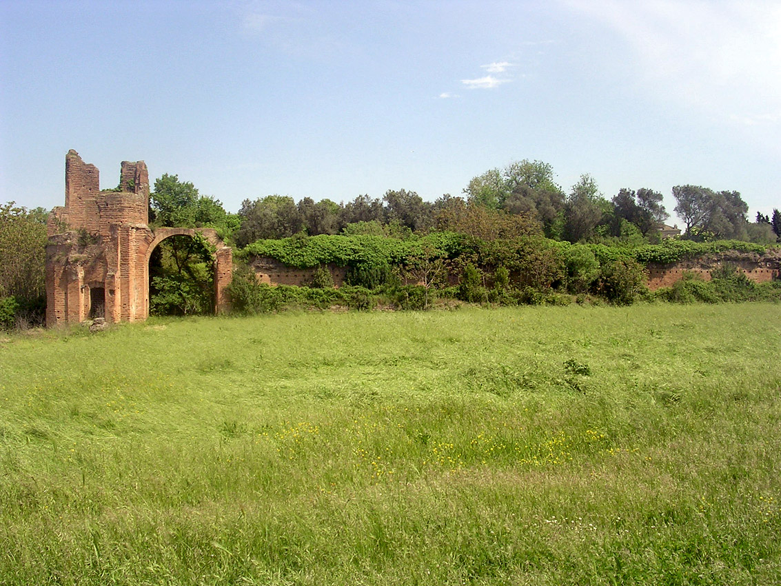 The villa of Maxentius. The Circus of Maxentius. Rome, Via Appia