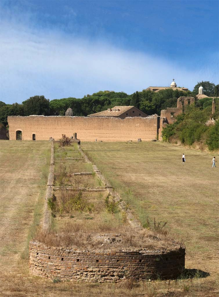 Spina of the Circus of Maxentius.  Rome, Via Appia