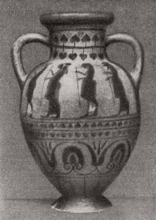 Hydria from Caere. Second half of the 6th century BCE.