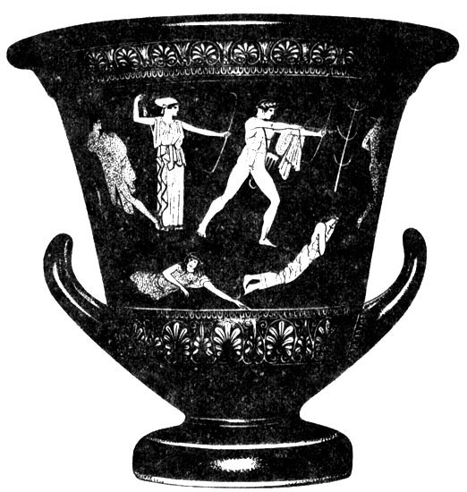The Slaughter of the Niobes. Krater. Second quarter of the 5th century BCE. Paris, Louvre Museum