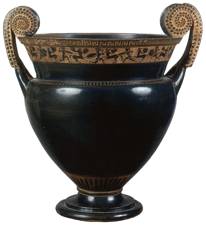 Centauromachia. Black-figure crater. Attic. Golvol Group. Clay. Ca. 520 BCE.  Inv. No. Б. 1526. Saint Petersburg, The State Hermitage Museum